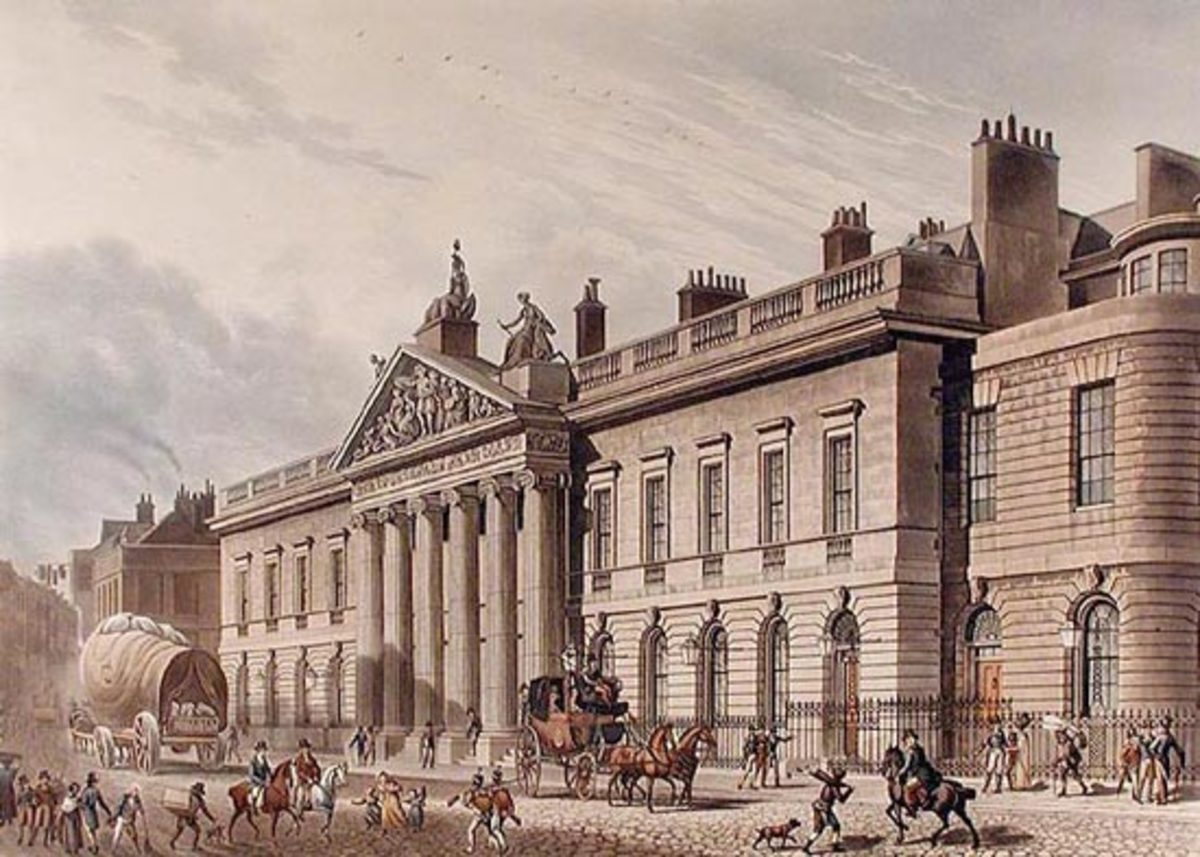 The later East India House in London, a focus of surprisingly substantial length in the book.