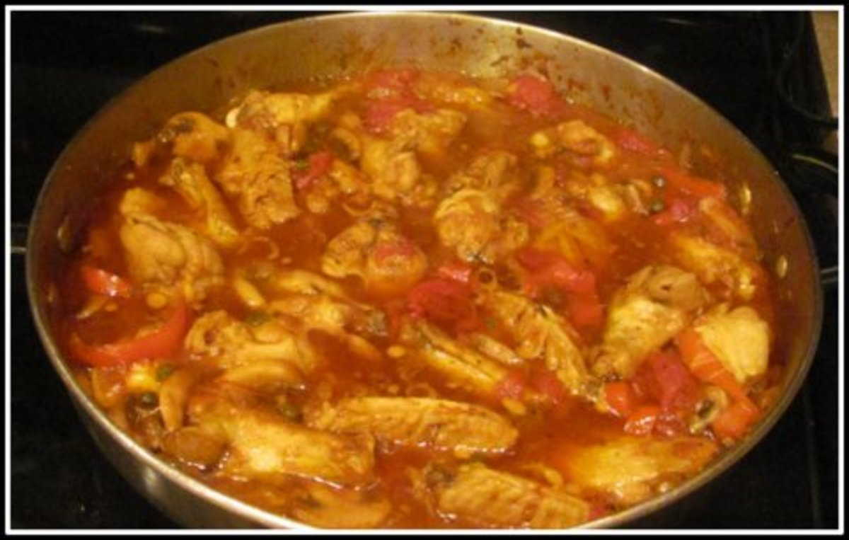 My mother's recipe for Chicken Cacciatore. It's so tender it will fall off your fork.
