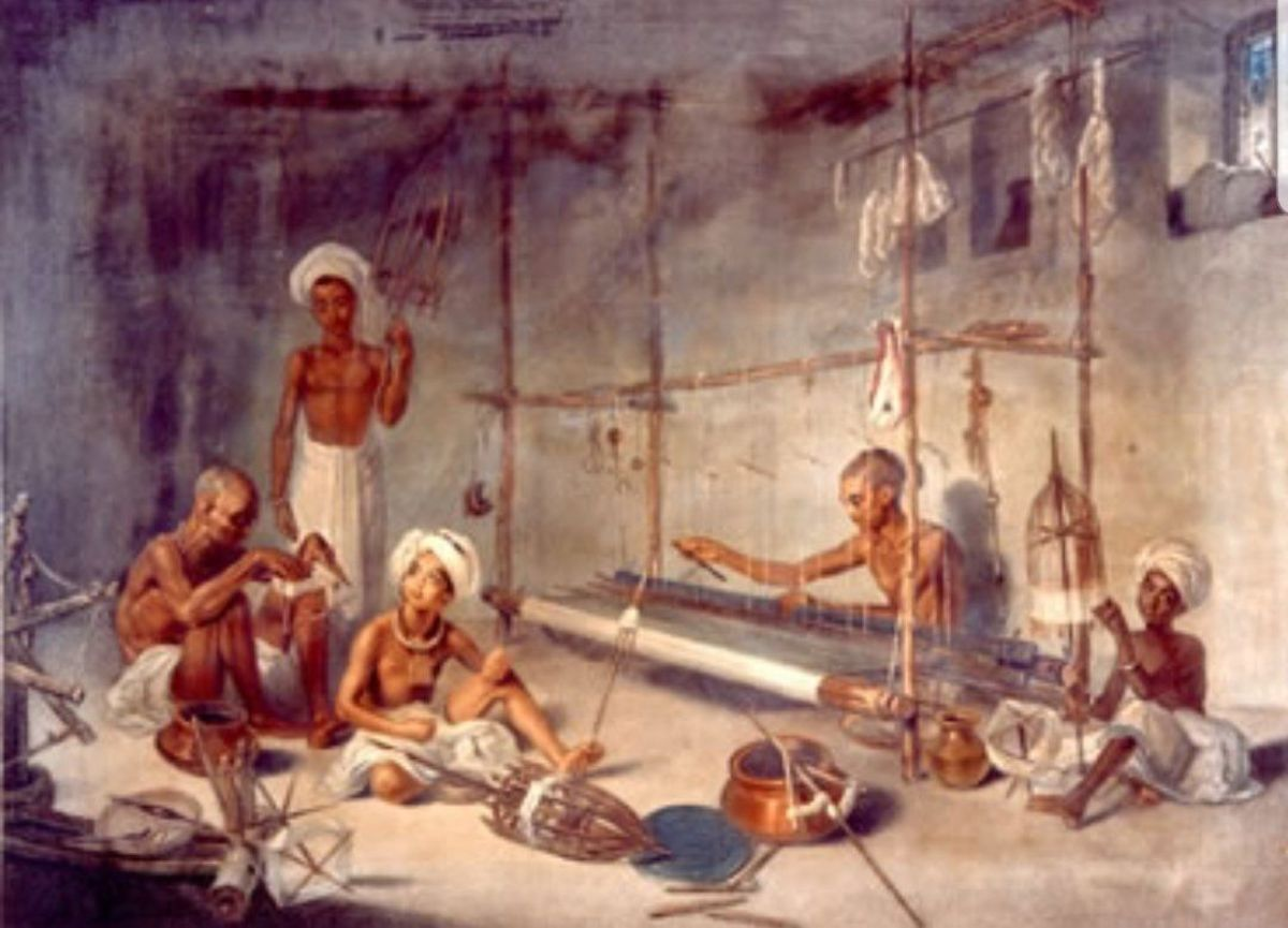 Textiles were a vital part of the Indian economy, which exported them all across the world