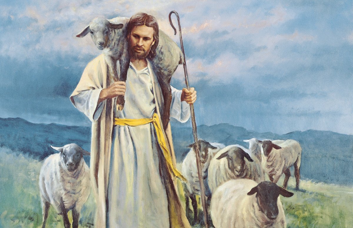 The Good Shepherd with His Lost Sheep