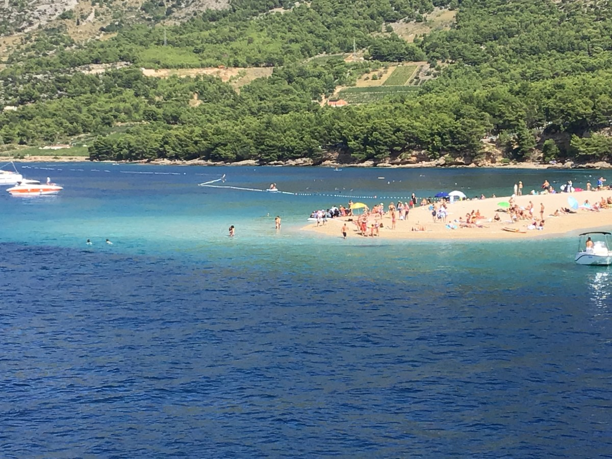 Beaches like this one in Croatia won't exist if temperatures and seas keep rising.