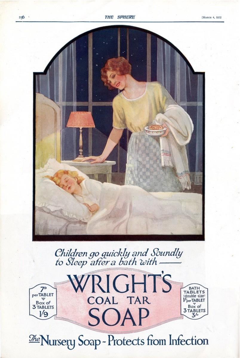 A 1922 advertisement for coal tar soap
