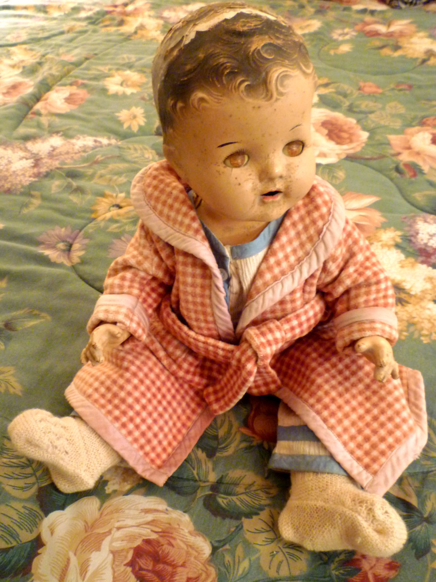 My mother's Dionne Quintuplet doll named Annette