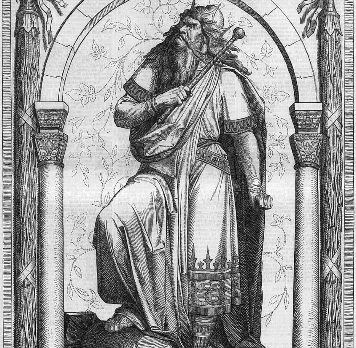Fresco depicting Genseric the Vandal, painted 1869.
