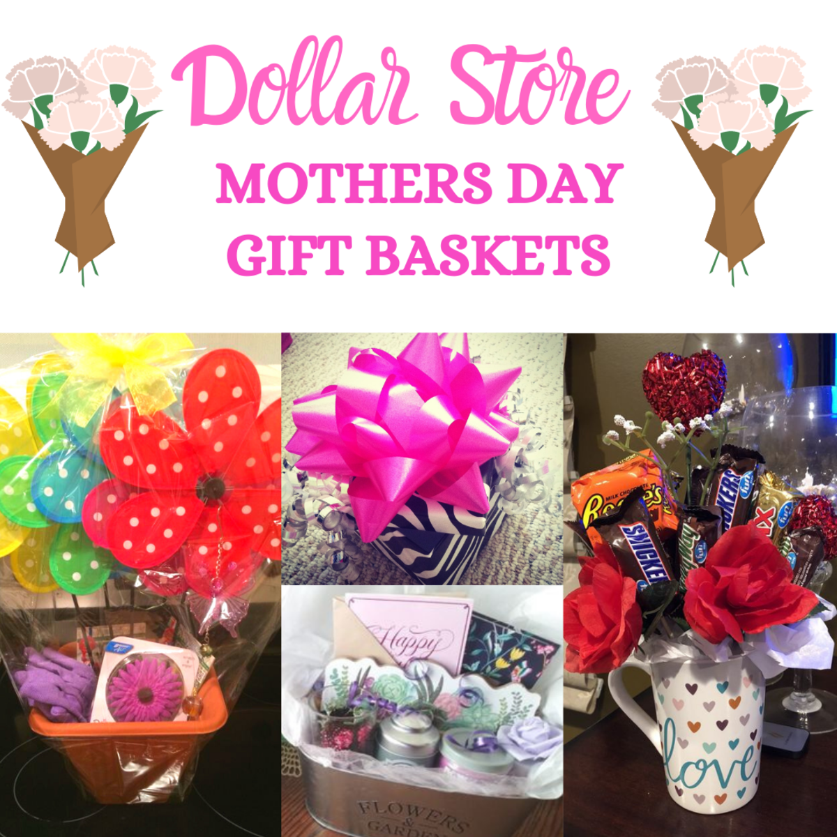 Dollar Store Mothers Day Gift Basket Ideas