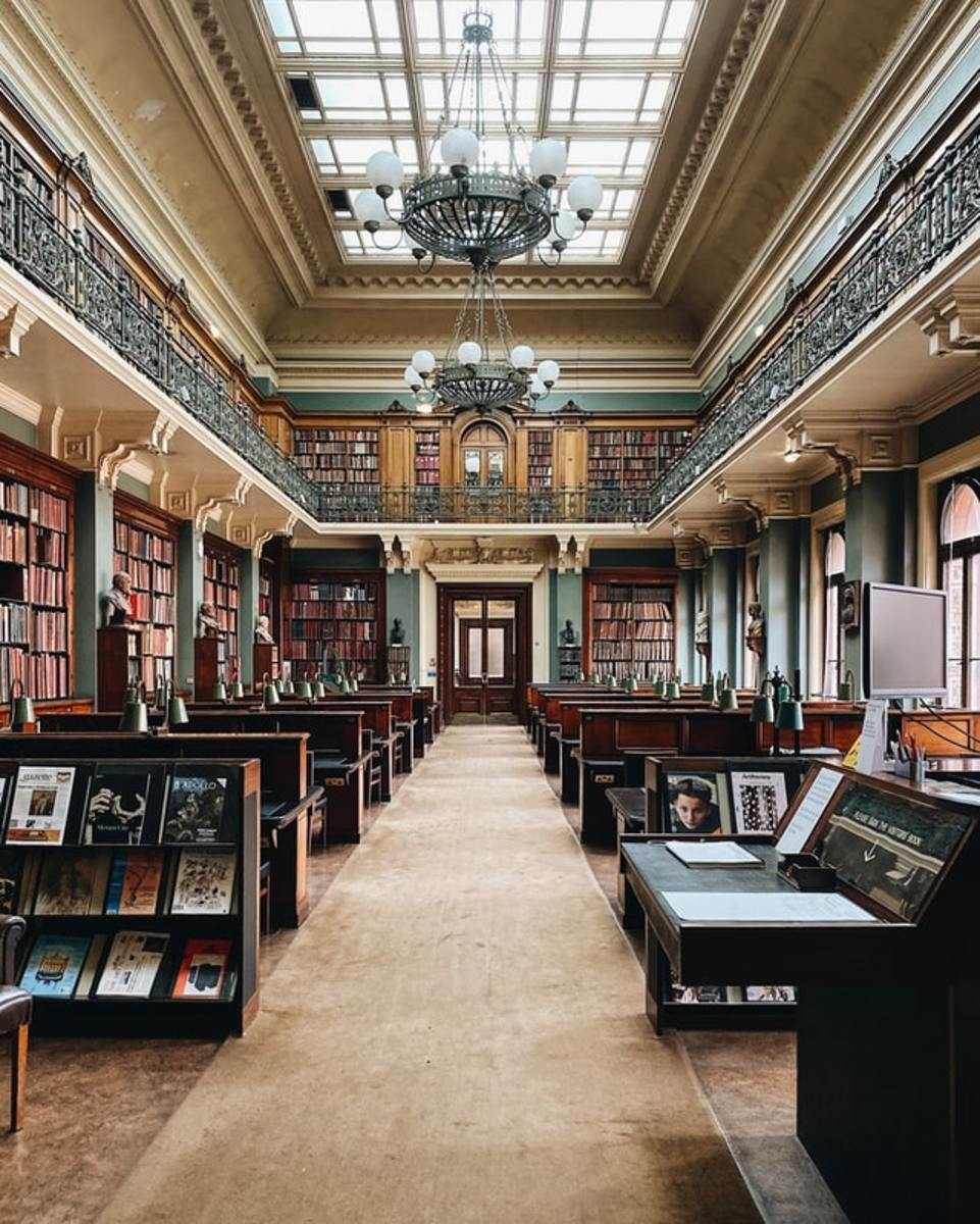 The Library at the Victoria and Albert Museum, London, England, United Kingdom