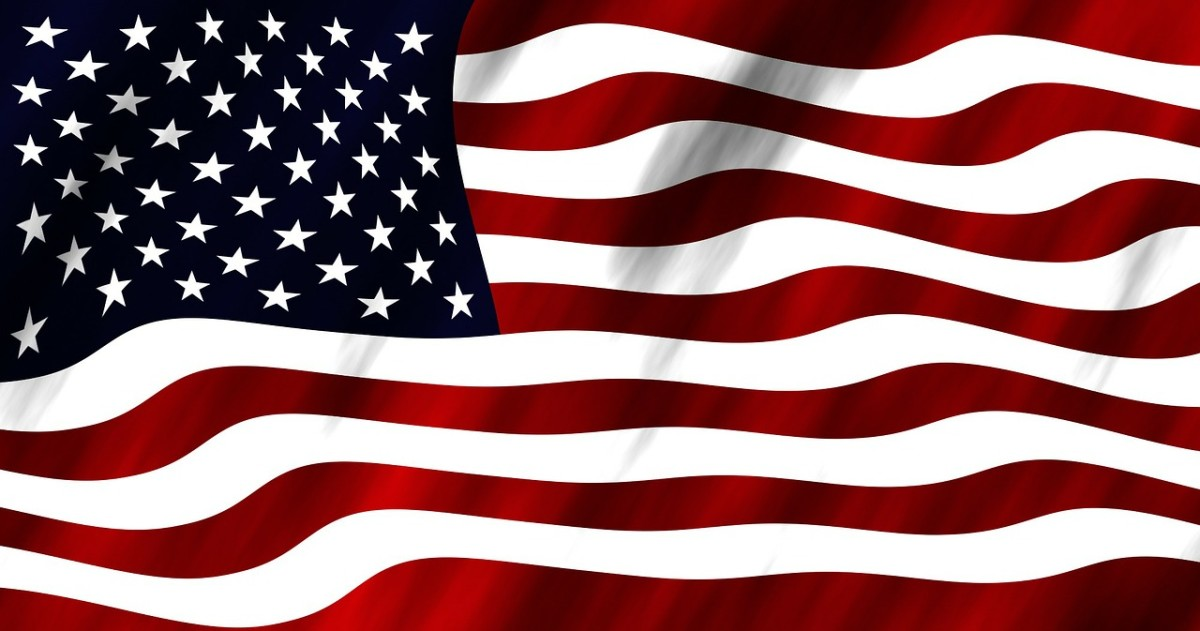 The stars and stripes of the American flag are very recognizable.