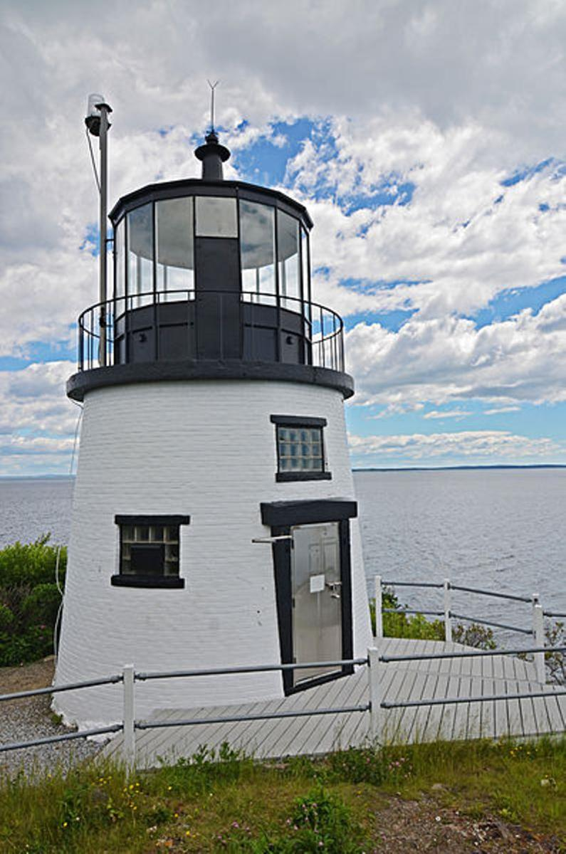 Owl Head Light; rated a top scary haunted  lighthouse