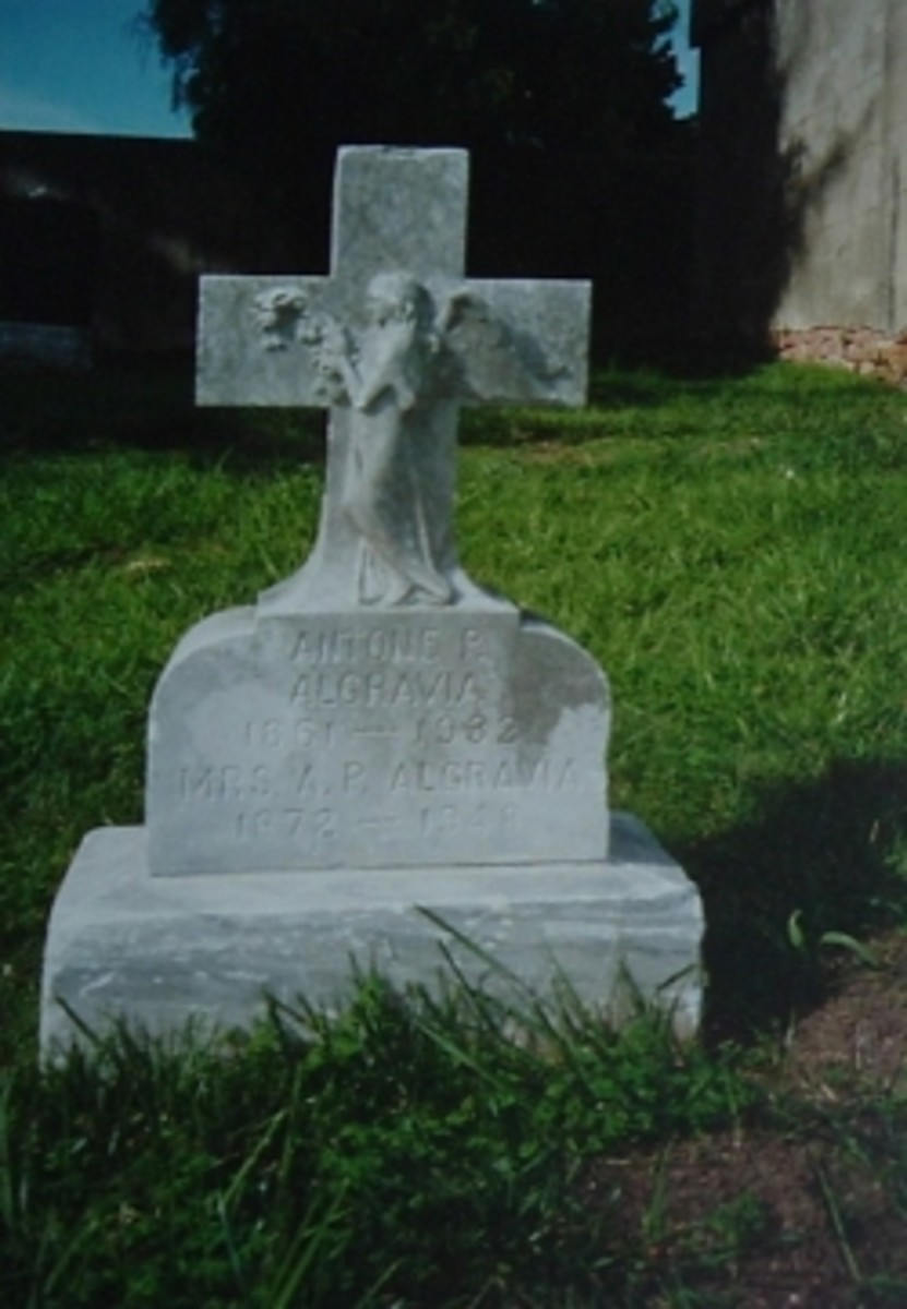 A family tombstone, St. Mary's Cemetery, Oakland, CA
