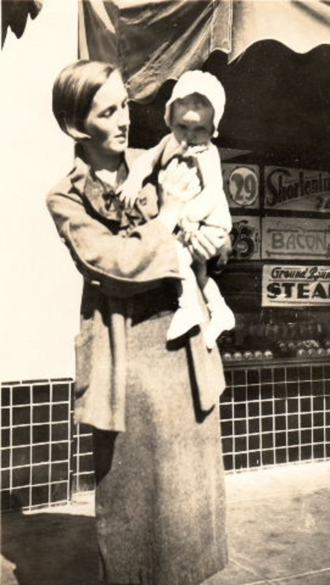 My grandma with my Mom, 1937