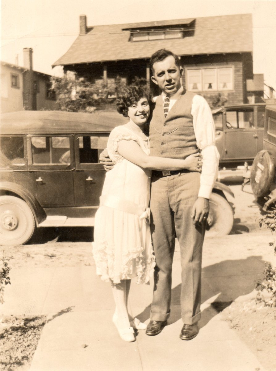 Jose Pacheco and Minnie Ventura, ca 1930, my great uncle and great aunt