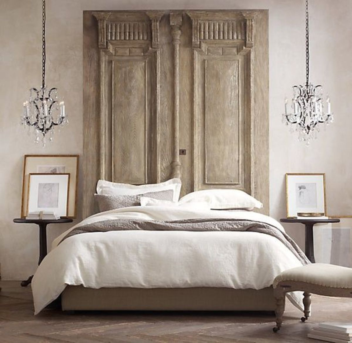 Home Bunch interior design French doors for the headboard ideas