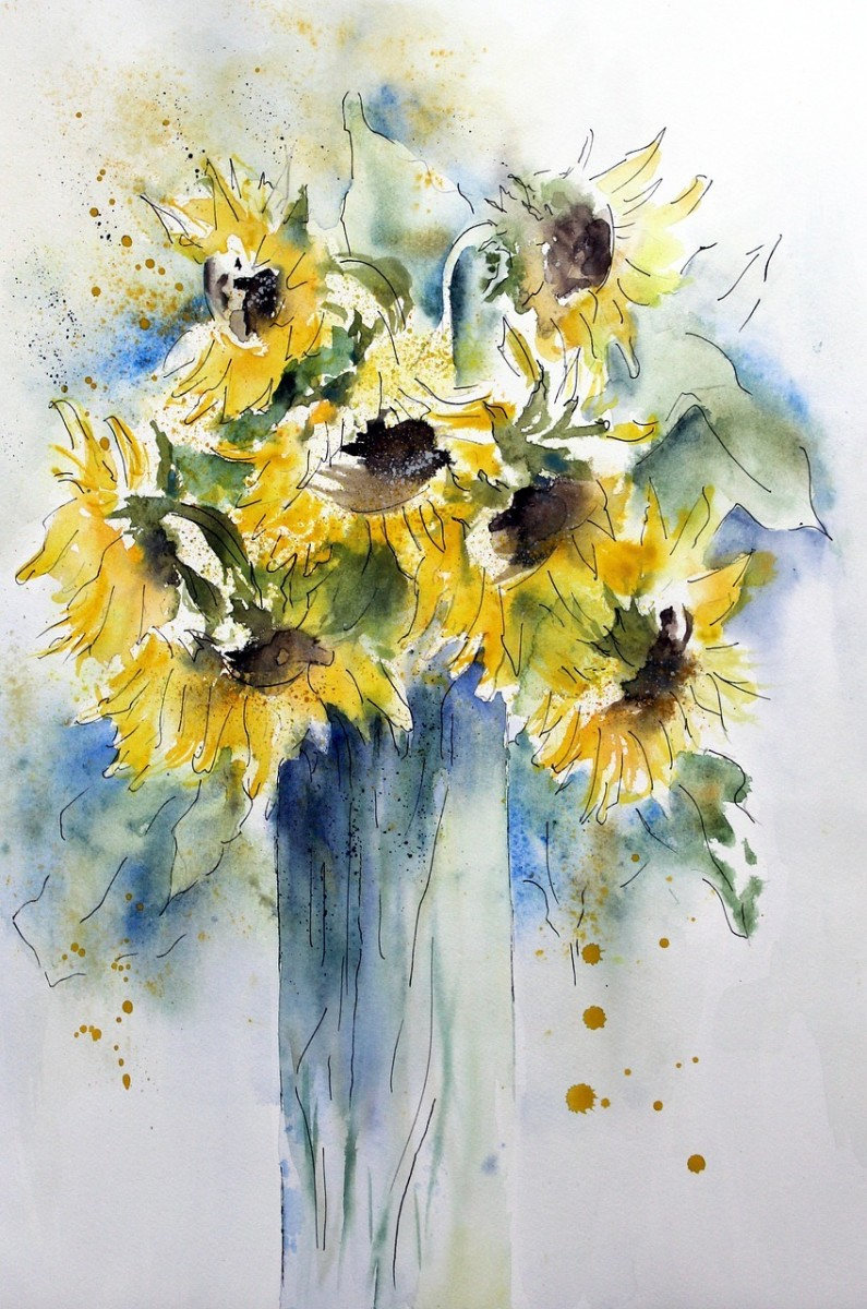 Sunflowers exude the fresh creative warmth of the Sun.