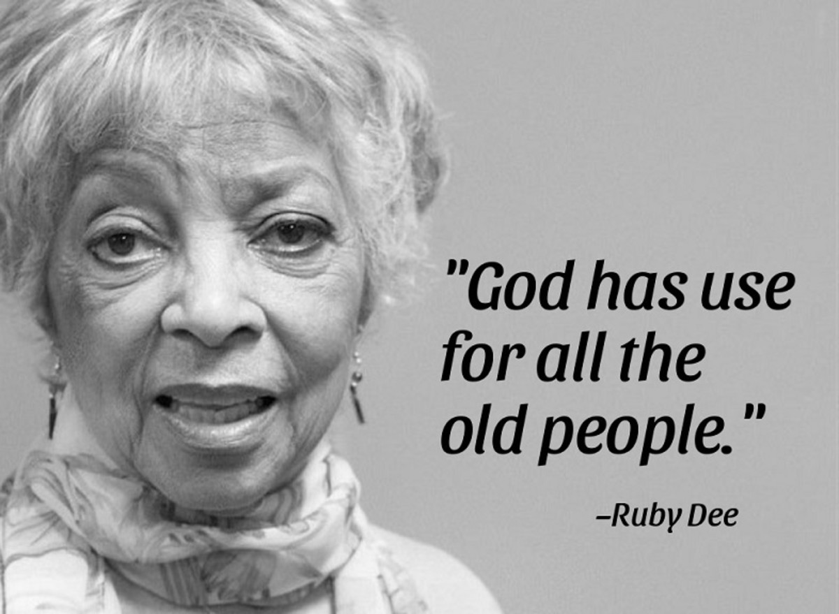 Ruby Dee, actress, poet, and civil rights activist