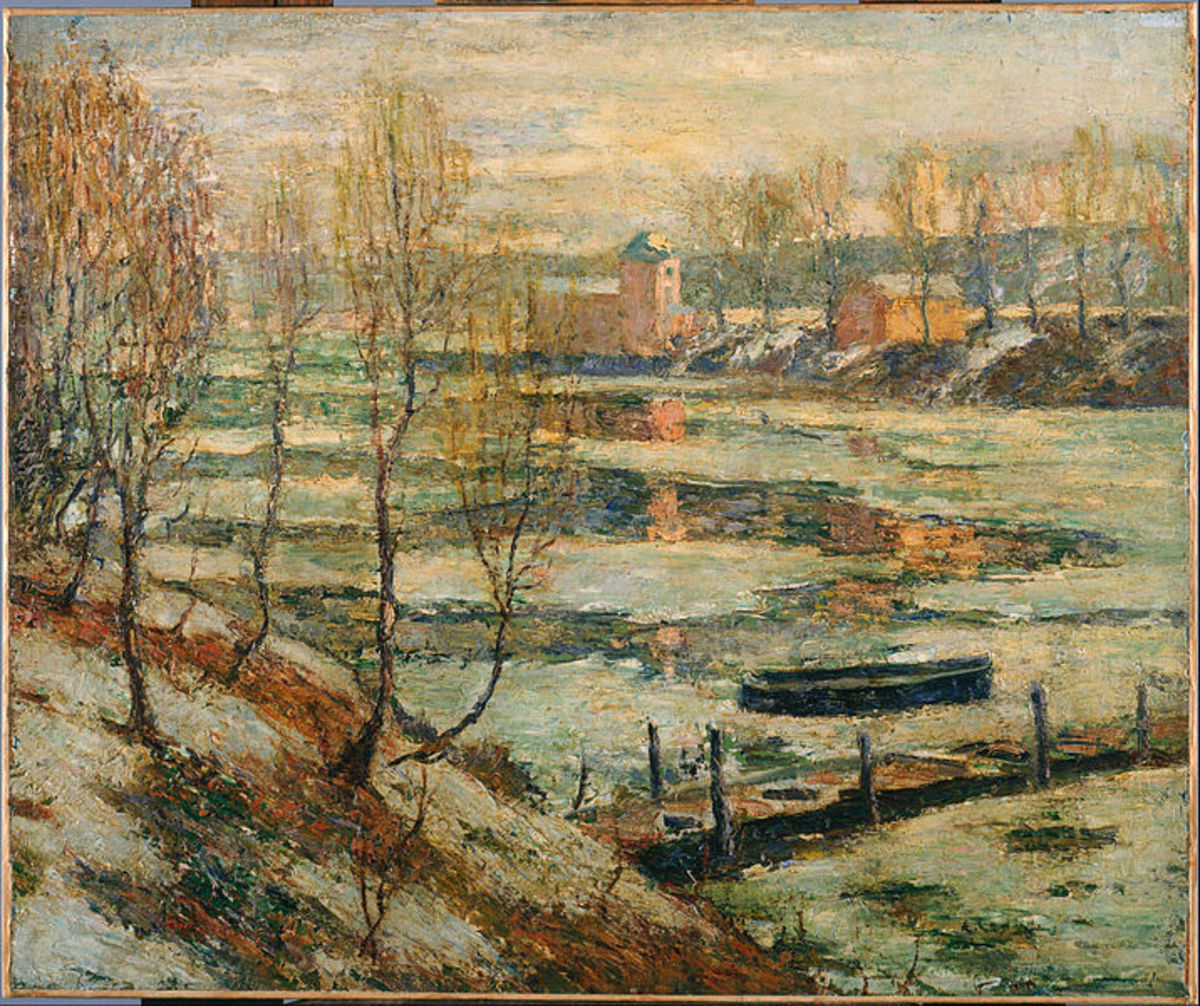 """Ernest Lawson's """"Ice in the River"""""""