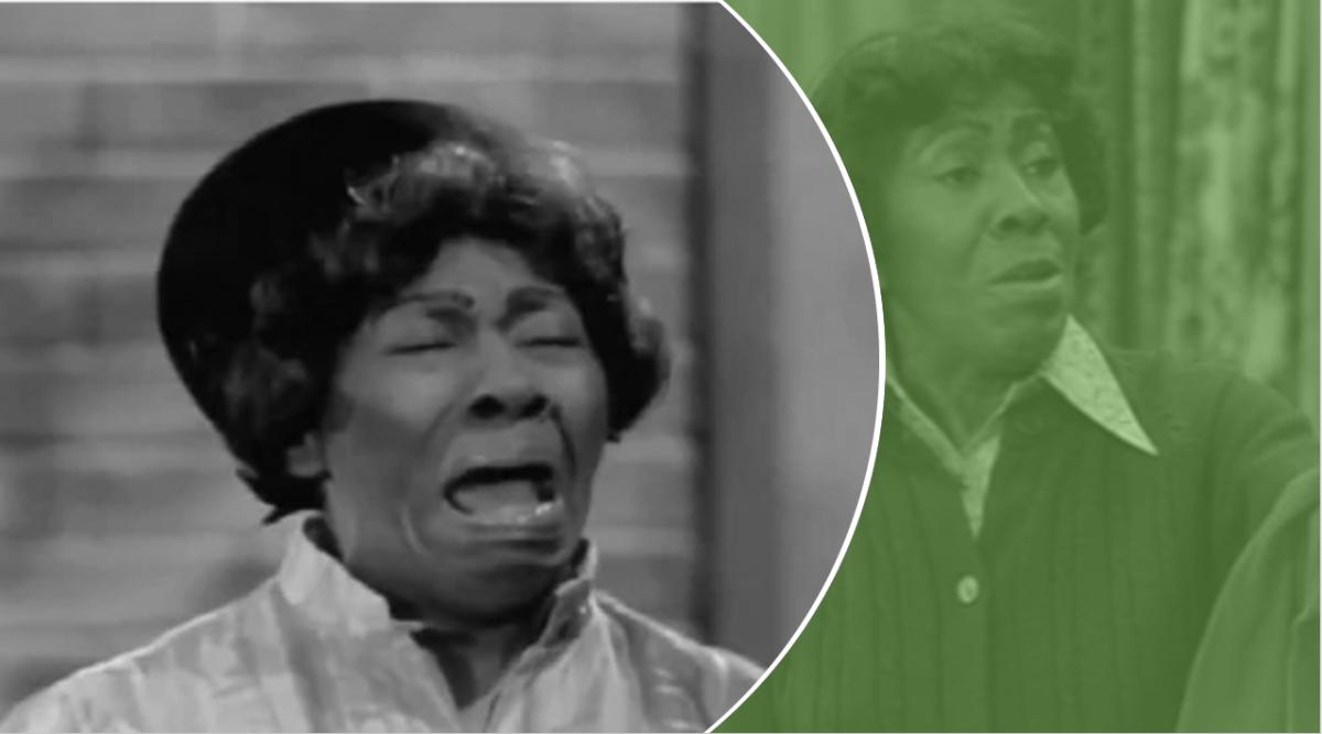 "Helen Martin as ""Weeping Wanda"" from Good Times."