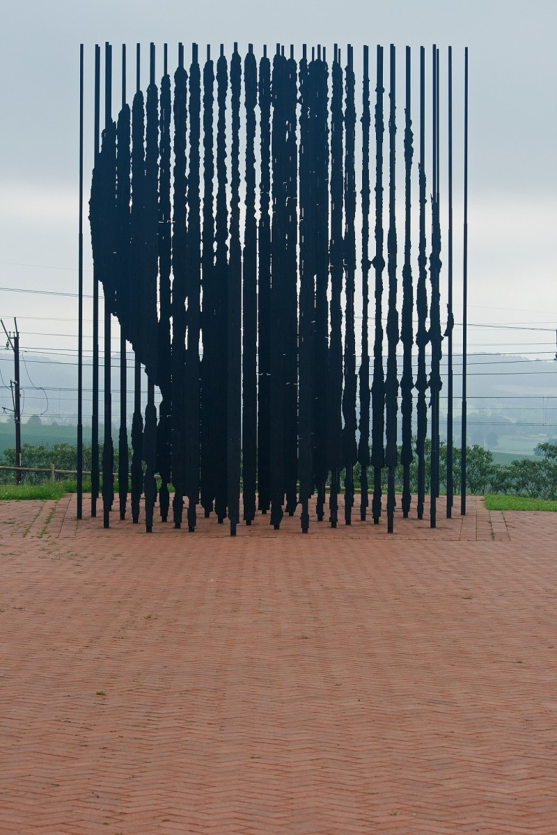 The imposing statue has to be viewed from the exact right angle to see the face correctly .