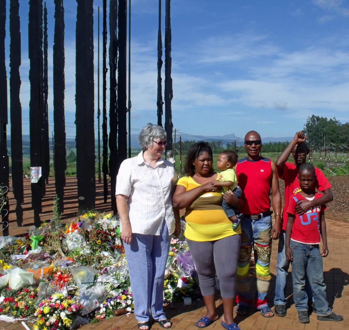 South Africans were  all coming together in their grief