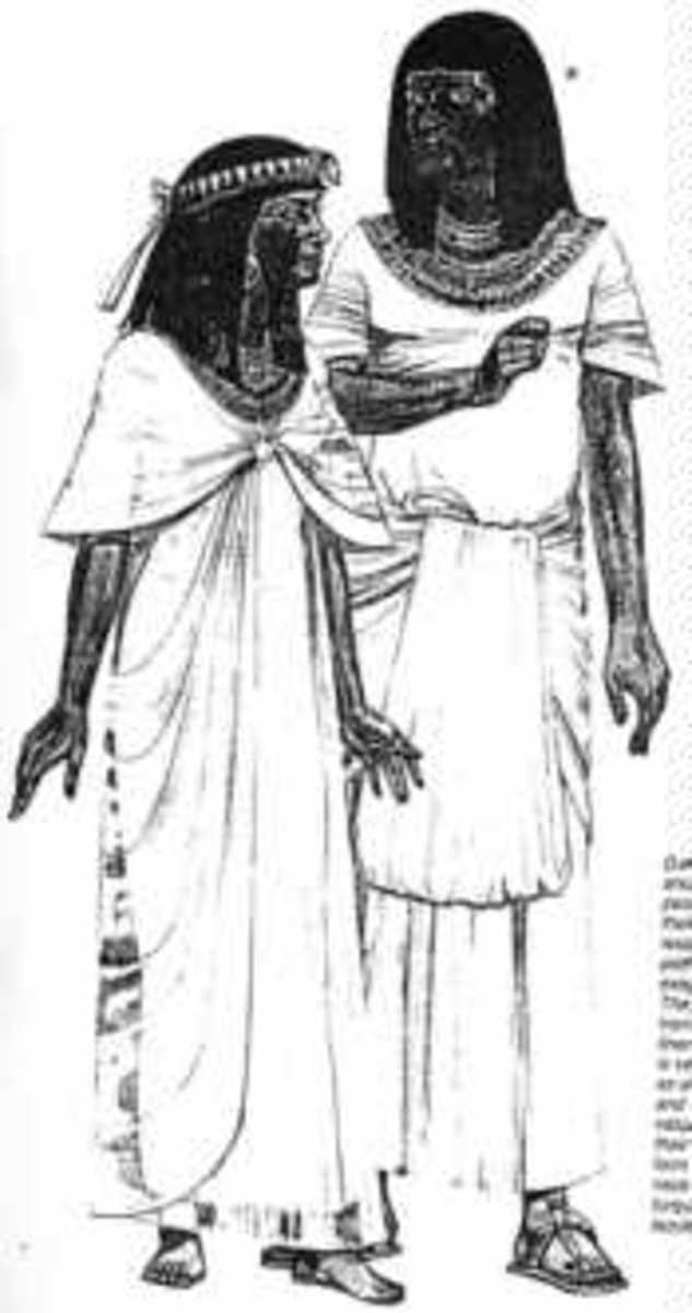 Better-off people wore wide clothes of white cloth