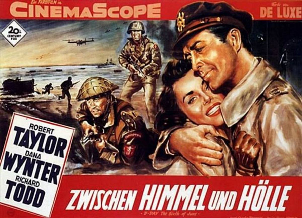 D-Day the Sixth of June (1957) German poster