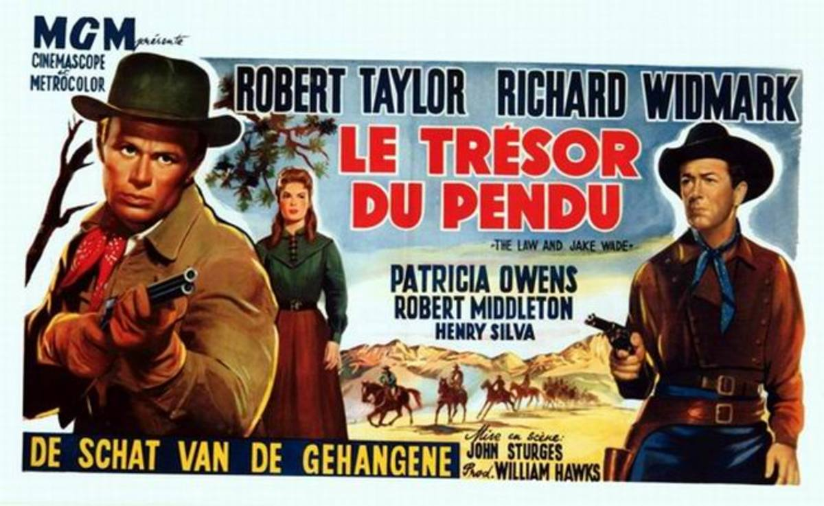 The Law and Jake Wade (1958) French poster