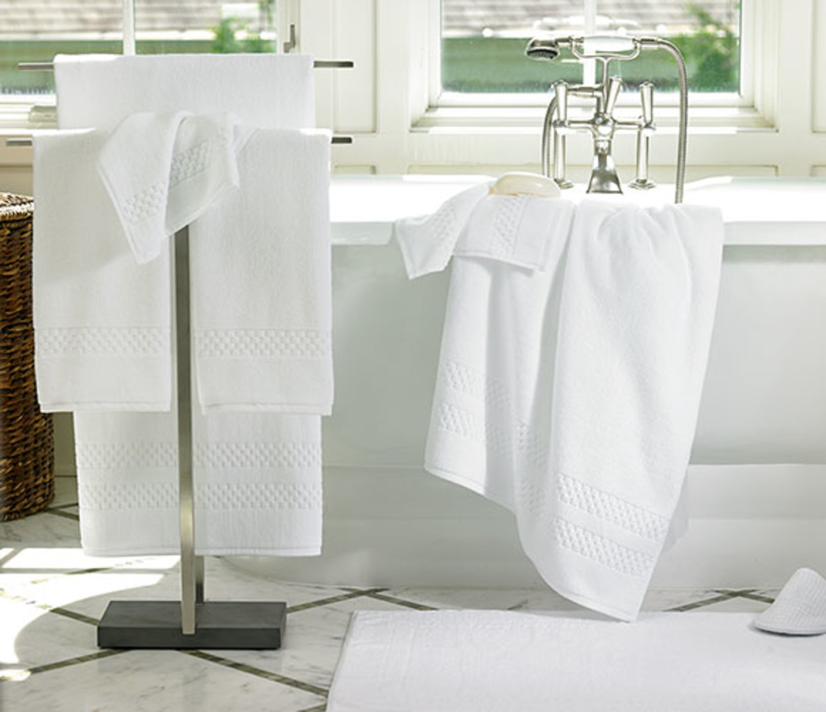 Soft, white towels give your bathroom that spa resort feel.
