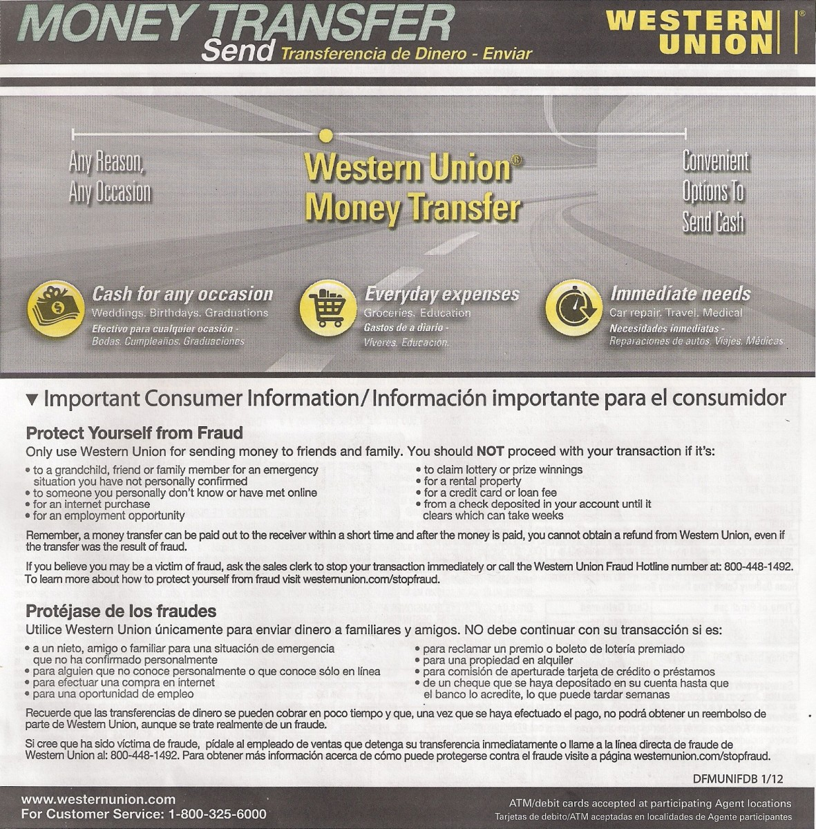 Western union money order fill out