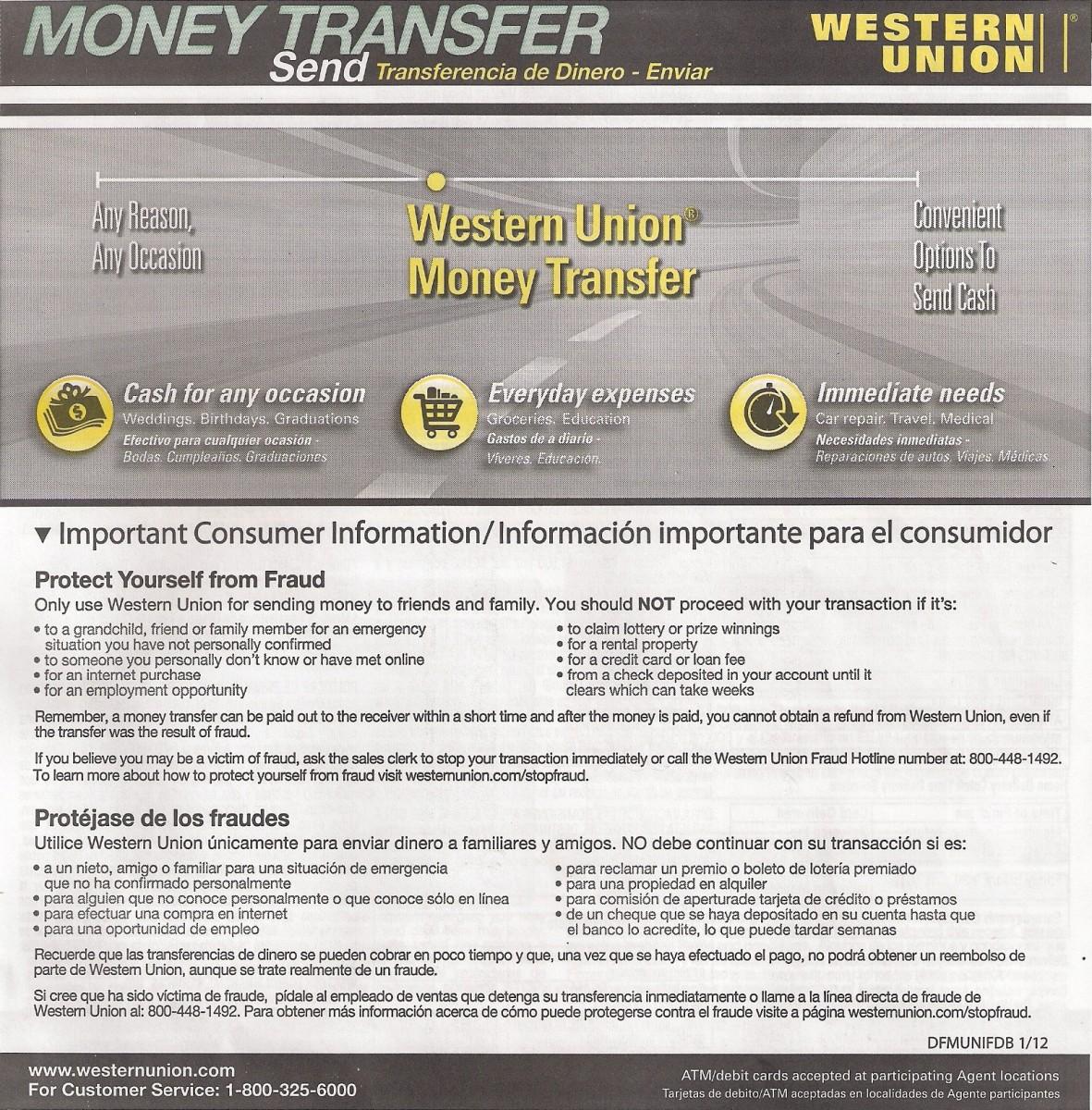 Western Union Form