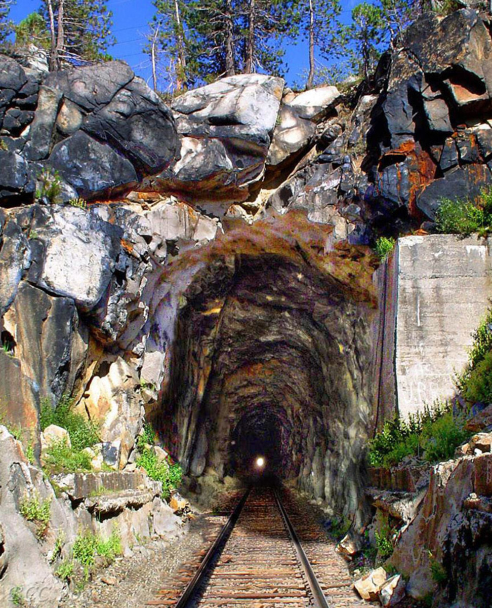 The Summit Tunnel had to be hacked through granite.