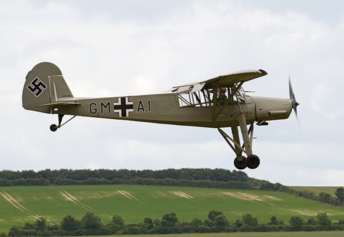 The plane kept ready for the escape of Hitler