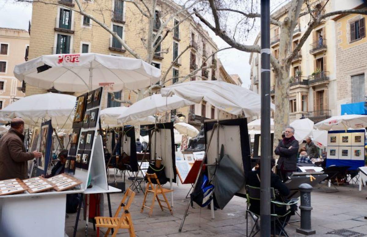 Mercadillo de la Plaza de Sant Josep