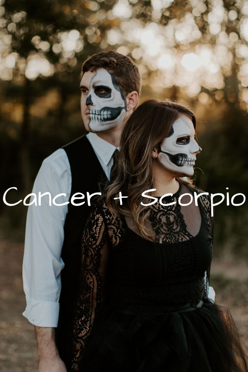 Cancer and Scorpio top date ideas: (1) private candlelight dinners outside. (2) exploring castles and Victorian era places. (3) wandering through graveyards. (4) walks in botanical gardens. (5) stargazing.
