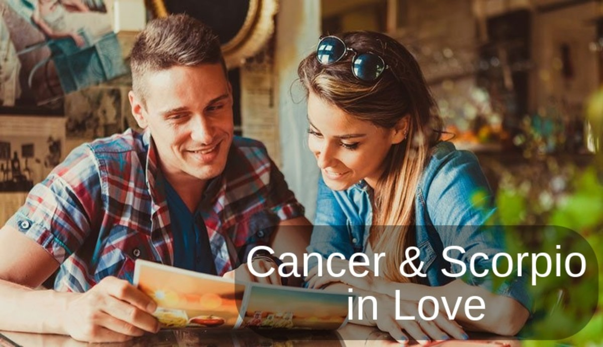 Cancer and Scorpio are a highly compatible couple. They connect together with their shared element: water. They both are expressive, moody, and deeply passionate. Cancer loves to nurture; Scorpio loves to protect.