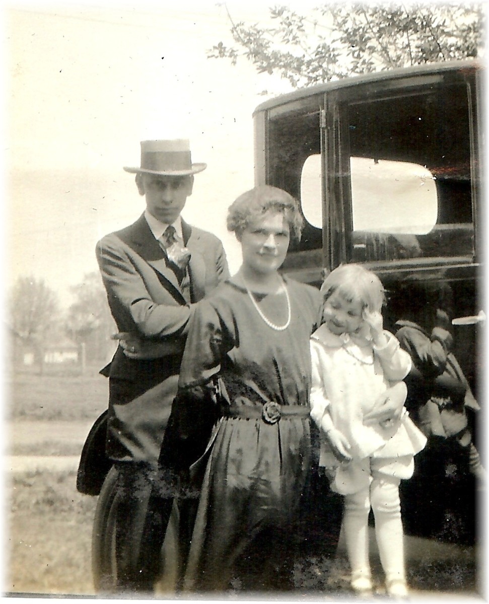 My husband's grandparent's and what would become his mother in later years.