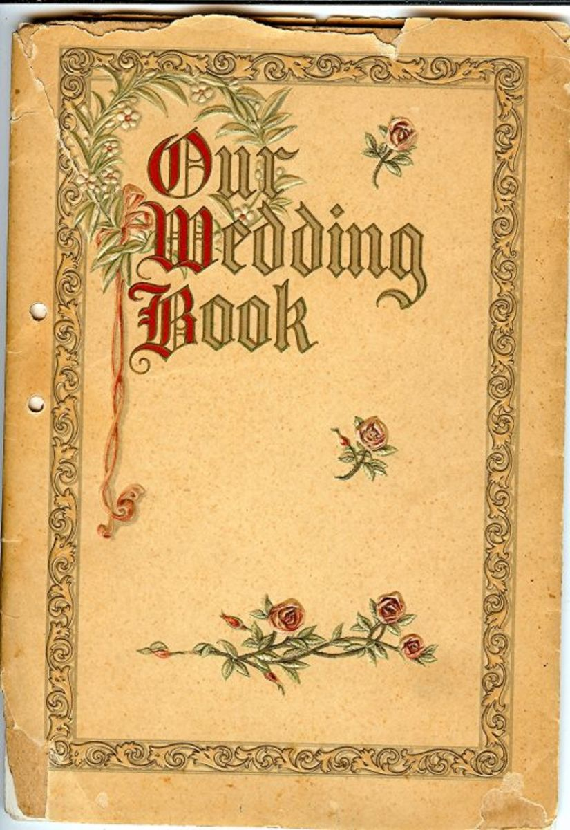 The book in which notations were made of their wedding journey.