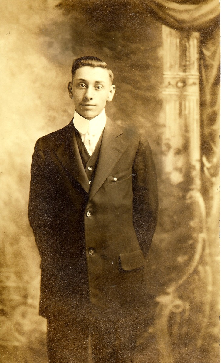 My husband's maternal grandfather as a young man