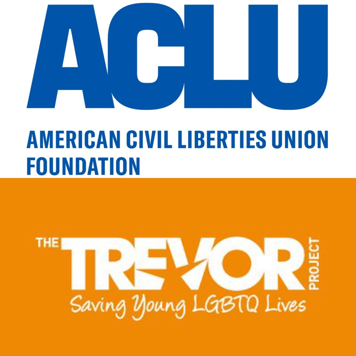 Phil's is the American Civil Liberties Union and Akeem's is the Trevor Project.