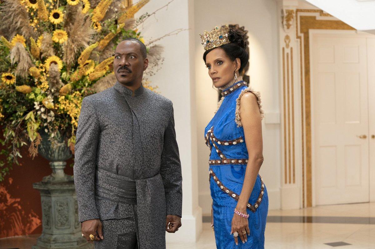 An older Prince Akeem and Lisa McDowell.