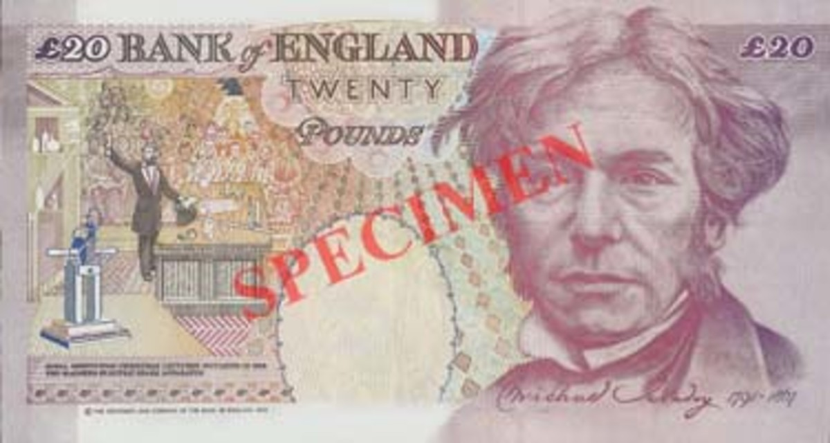 Faraday's portrait was once on the British currency