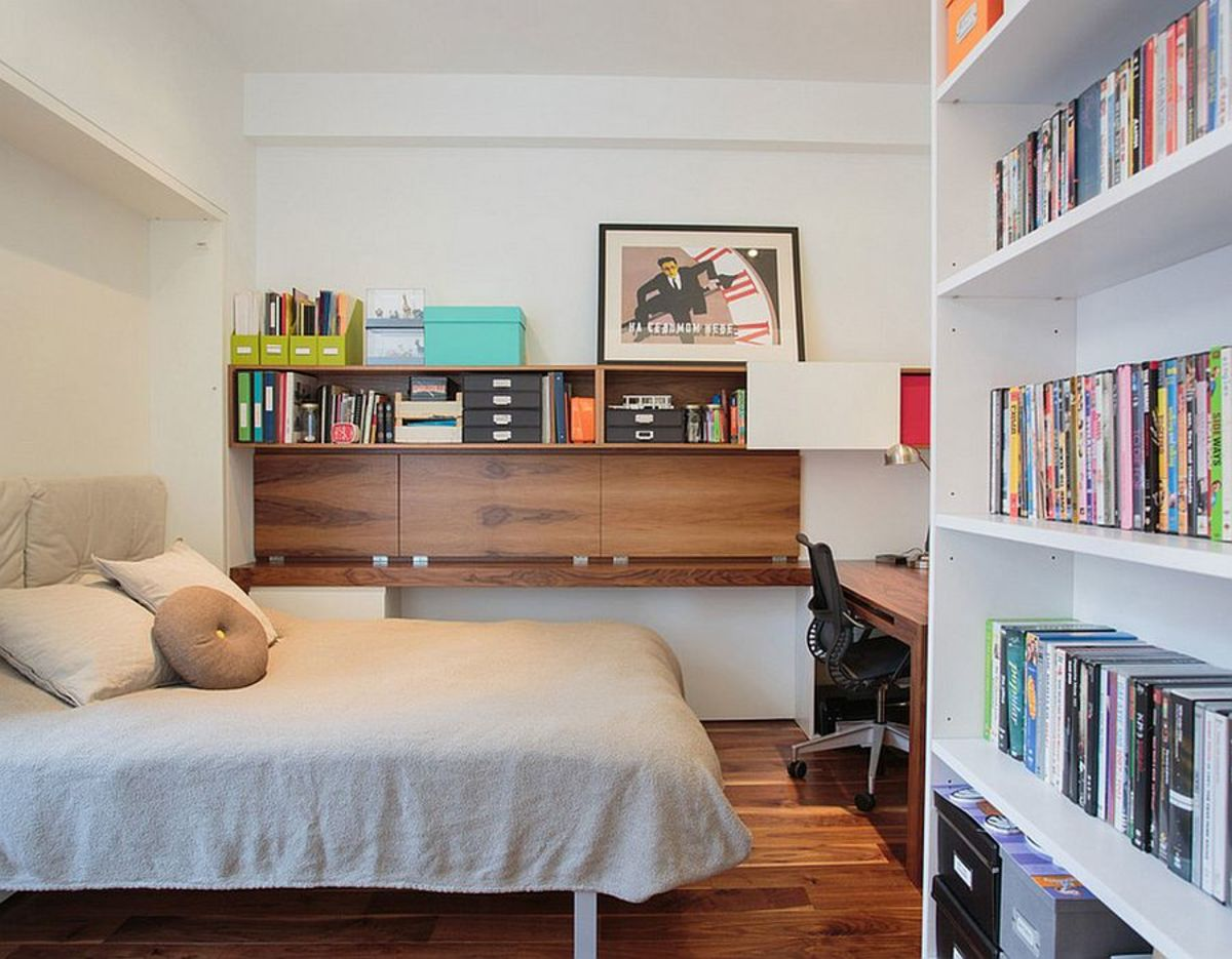Short on space? Set up a home office in your bedroom.