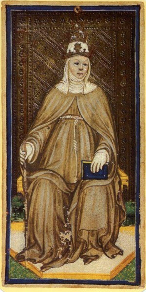 Pope Joan tarot card