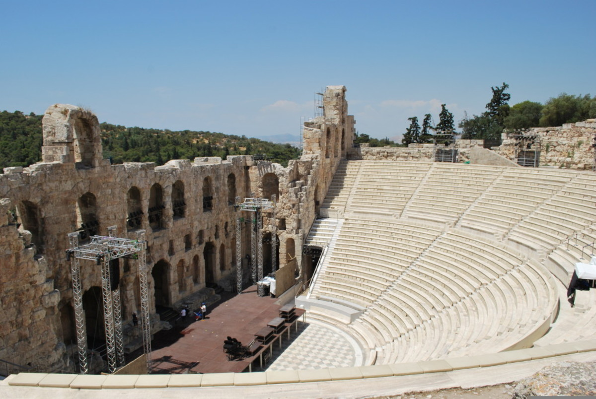 The Herodes Atticus Theatre, on the Acropolis