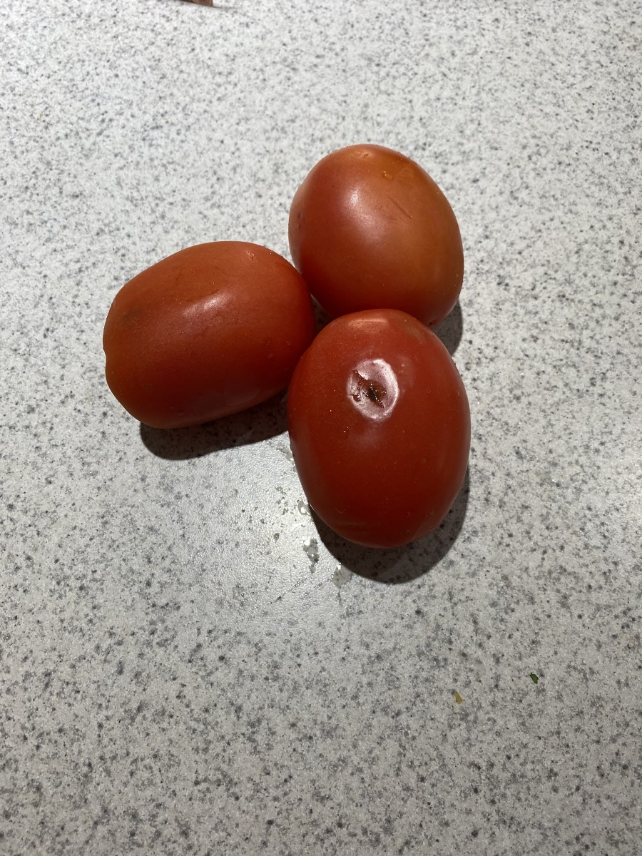 The tomatoes were bruised and soft