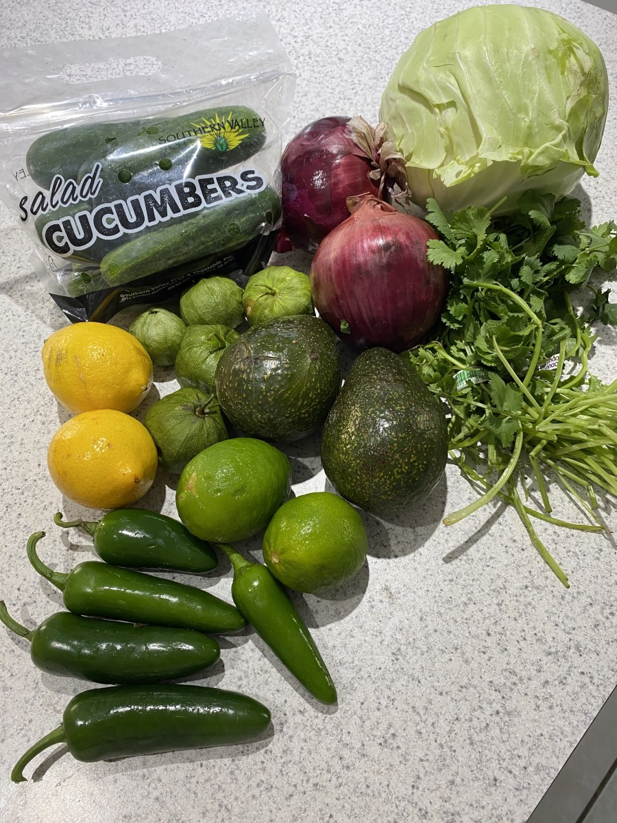 After throwing away this damaged produce, this is what was left