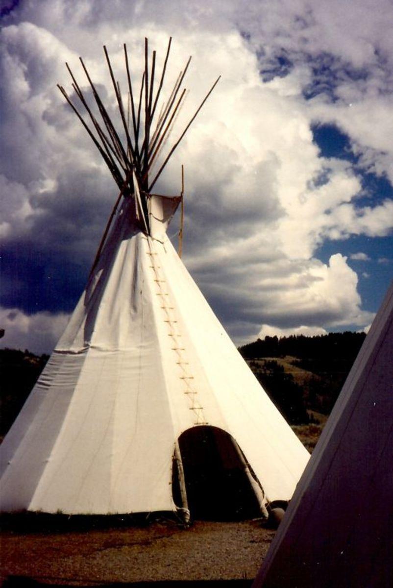 Teepee on grounds of Dornan's Chuck Wagon