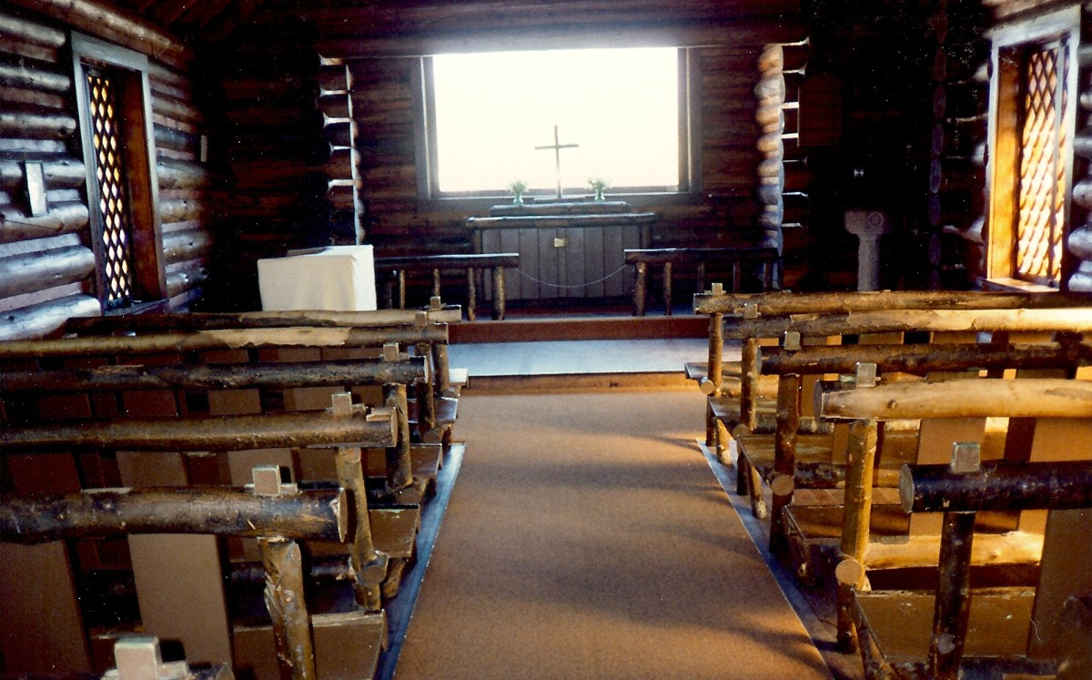 Inside the non-denominational Chapel of The Transfiguration