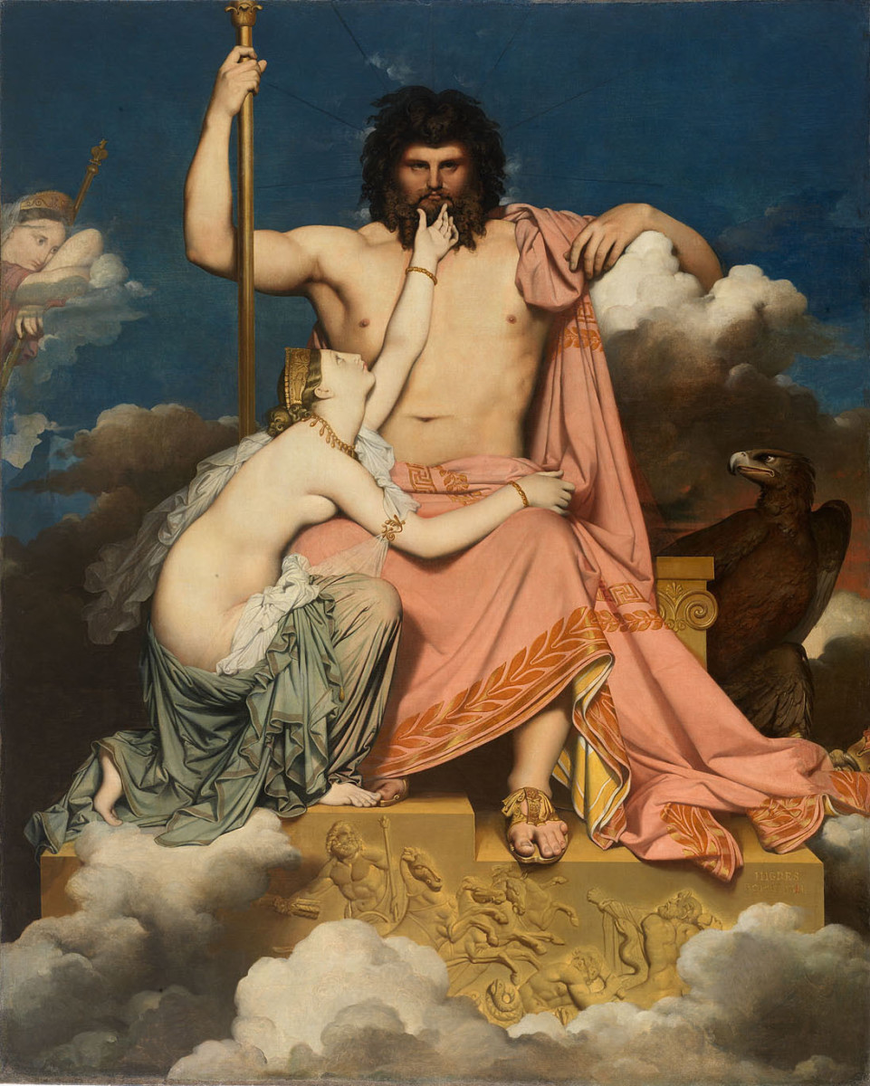 """""""Jupiter and Thetis"""" by Jean Auguste Dominique Ingres"""