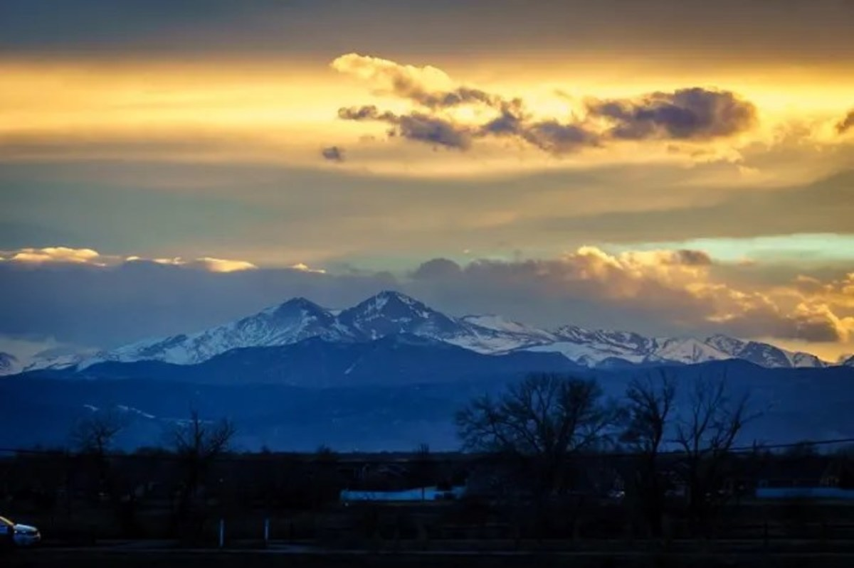 Enjoying your Rocky Mountain HIgh? Long's Peak from Northern Colorado.