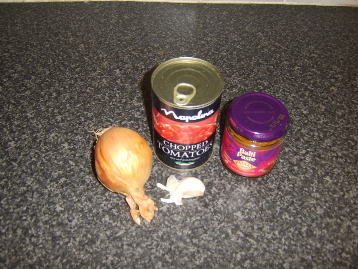 Basic balti curry sauce ingredients