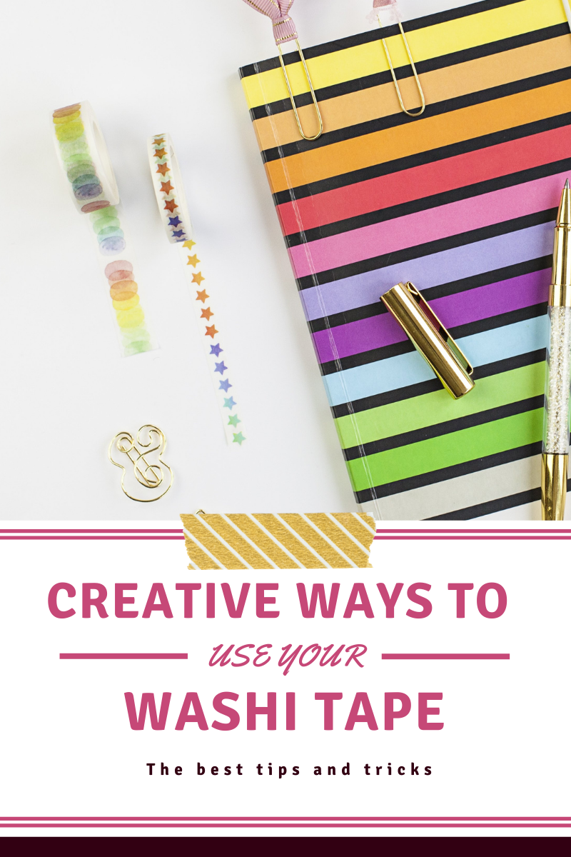 This guide will give you some creative ways to use washi tape!
